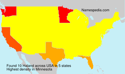 Surname Haland in USA