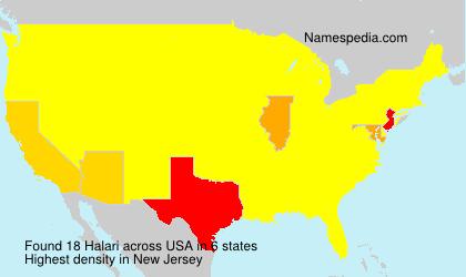 Surname Halari in USA