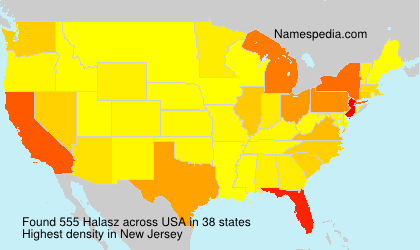 Surname Halasz in USA
