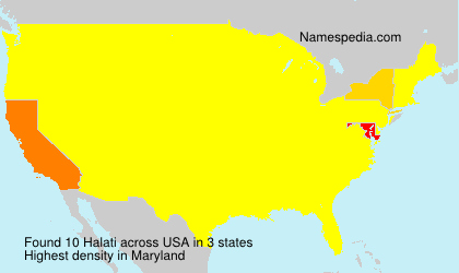 Surname Halati in USA