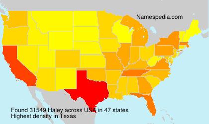 Familiennamen Haley - USA