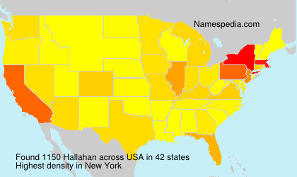 Surname Hallahan in USA