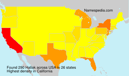 Surname Hallak in USA