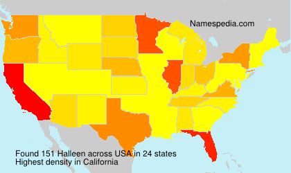 Surname Halleen in USA