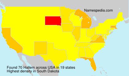 Surname Hallem in USA