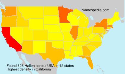 Surname Hallen in USA