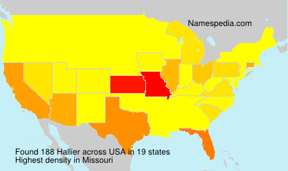 Surname Hallier in USA