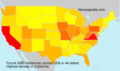 Surname Halterman in USA