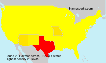 Surname Haltmar in USA