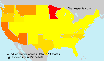 Surname Halver in USA