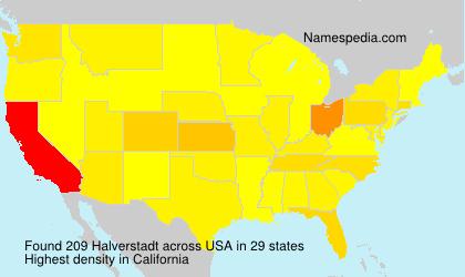 Surname Halverstadt in USA
