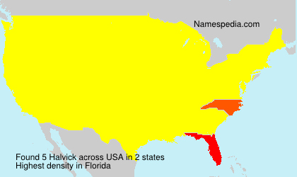 Surname Halvick in USA