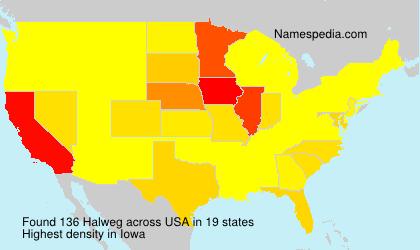 Surname Halweg in USA