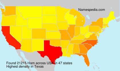 Familiennamen Ham - USA