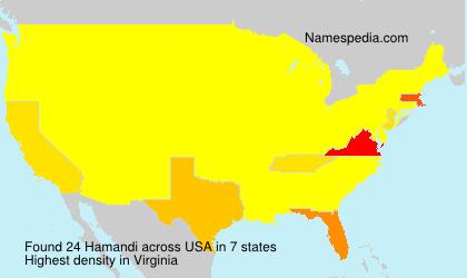 Familiennamen Hamandi - USA