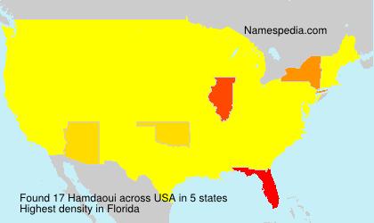 Familiennamen Hamdaoui - USA