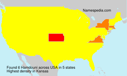 Familiennamen Hamdouni - USA
