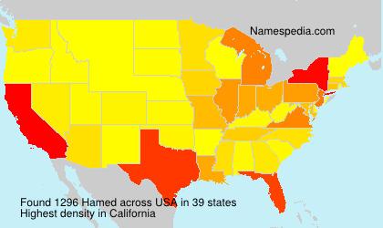 Surname Hamed in USA