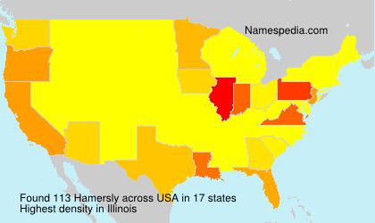 Surname Hamersly in USA