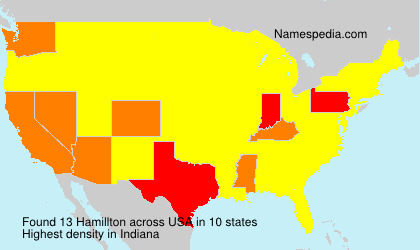 Surname Hamillton in USA