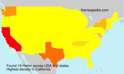Surname Hamir in USA