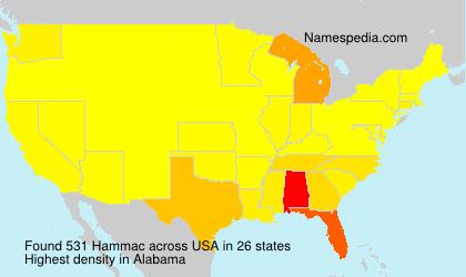 Surname Hammac in USA