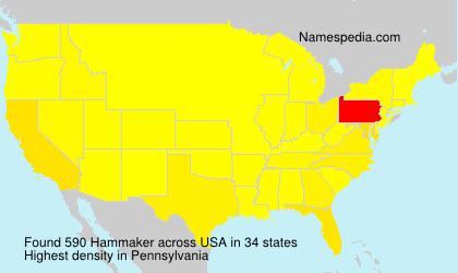 Surname Hammaker in USA