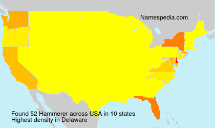 Surname Hammerer in USA