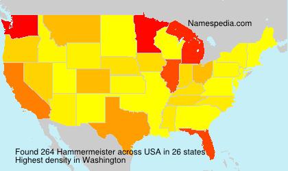 Surname Hammermeister in USA