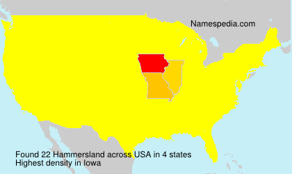 Surname Hammersland in USA