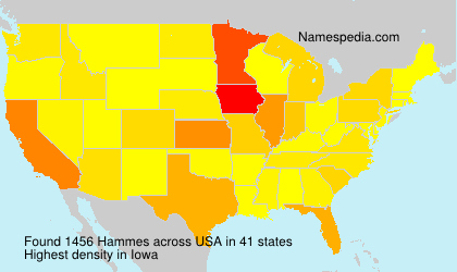 Surname Hammes in USA