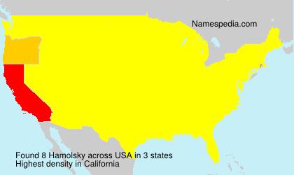 Surname Hamolsky in USA