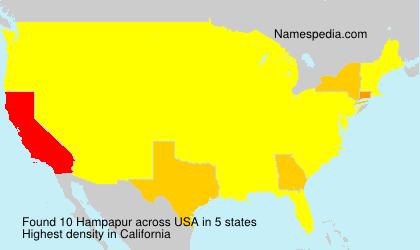 Familiennamen Hampapur - USA