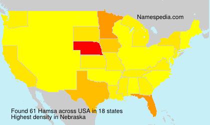Surname Hamsa in USA