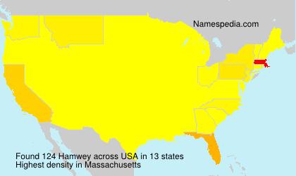 Familiennamen Hamwey - USA