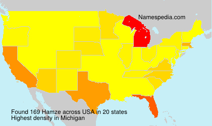 Surname Hamze in USA