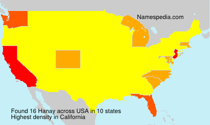 Surname Hanay in USA