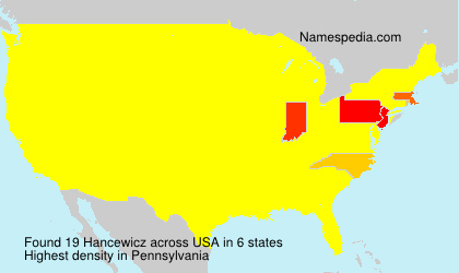 Surname Hancewicz in USA