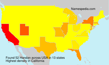 Surname Handan in USA