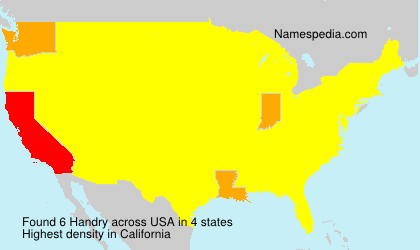 Surname Handry in USA