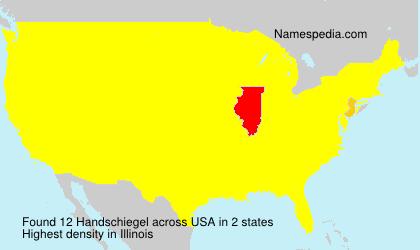 Surname Handschiegel in USA
