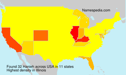 Surname Hanieh in USA