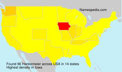 Familiennamen Hankemeier - USA
