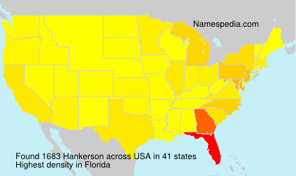 Surname Hankerson in USA
