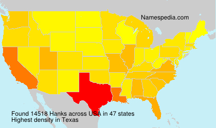 Surname Hanks in USA