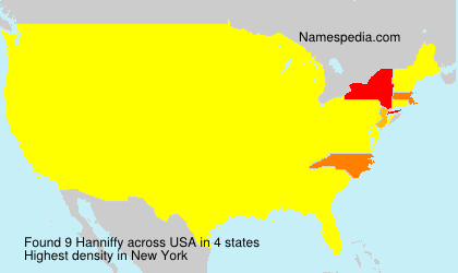 Surname Hanniffy in USA