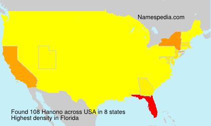 Surname Hanono in USA