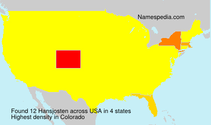 Surname Hansjosten in USA