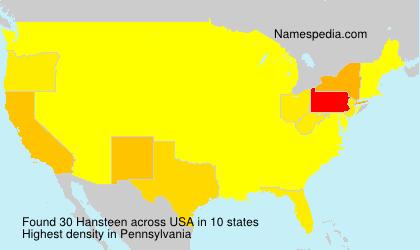 Surname Hansteen in USA