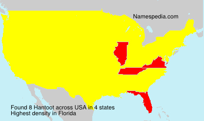 Surname Hantoot in USA